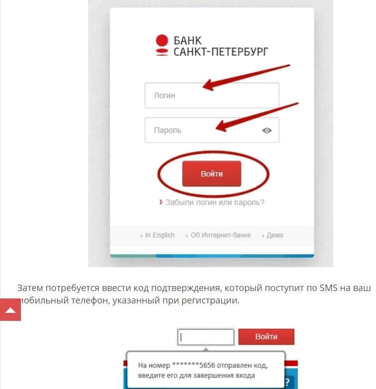 Вход в онлайн банк Санкт Петербурга банка