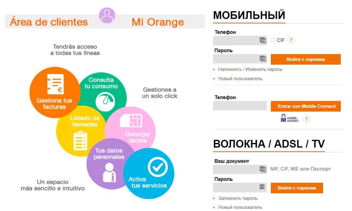 Orange Mundo личный кабинет