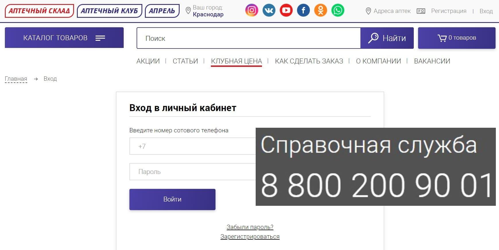 apteka-april.ru личный кабинет