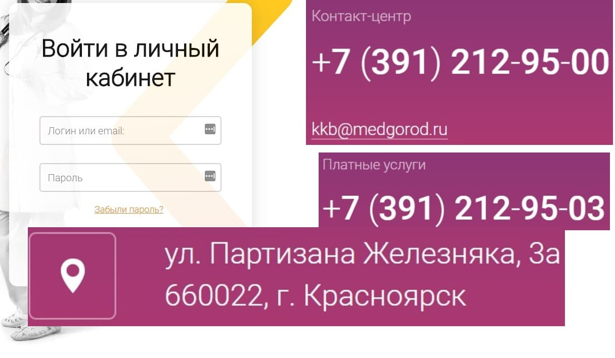 Medgorod Ru личный кабинет
