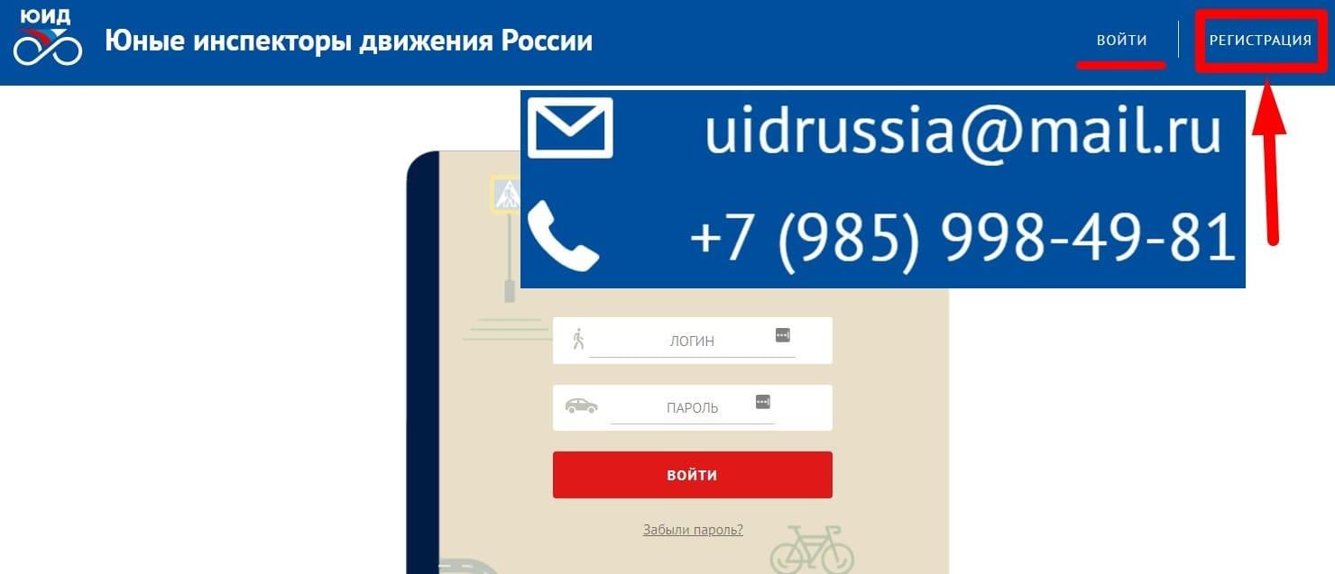 ЮИД России личный кабинет