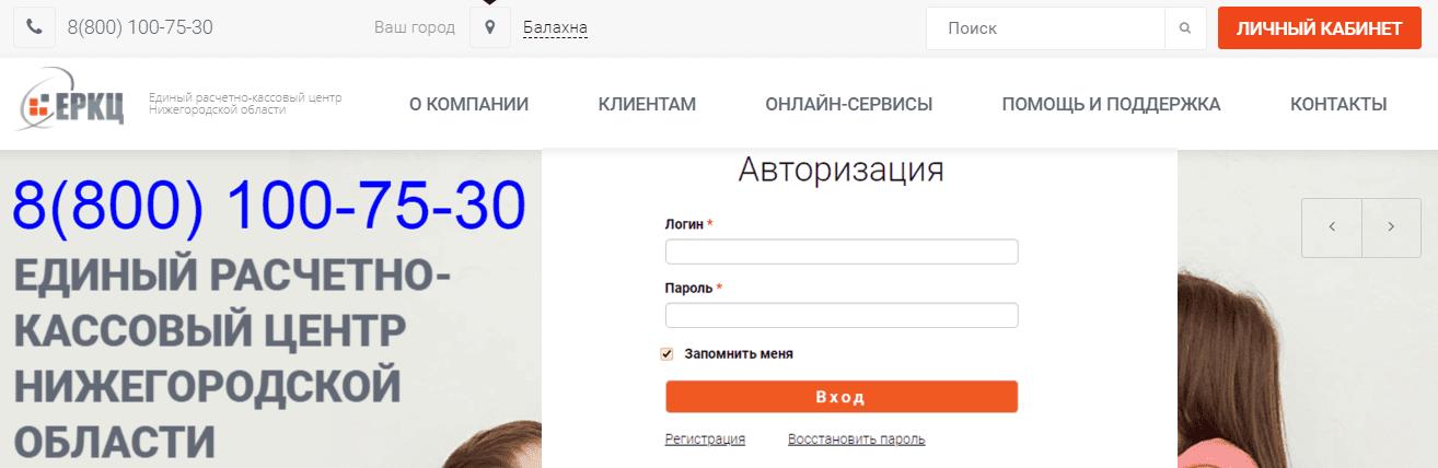 ЕРКЦ Дзержинск личный кабинет