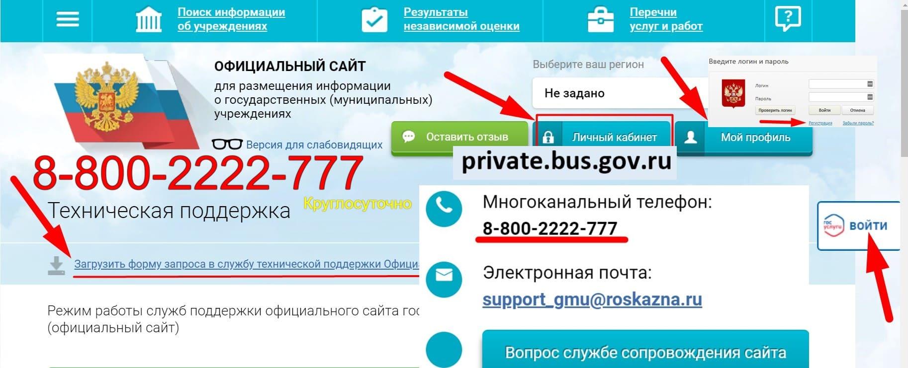 Bus Gov личный кабинет
