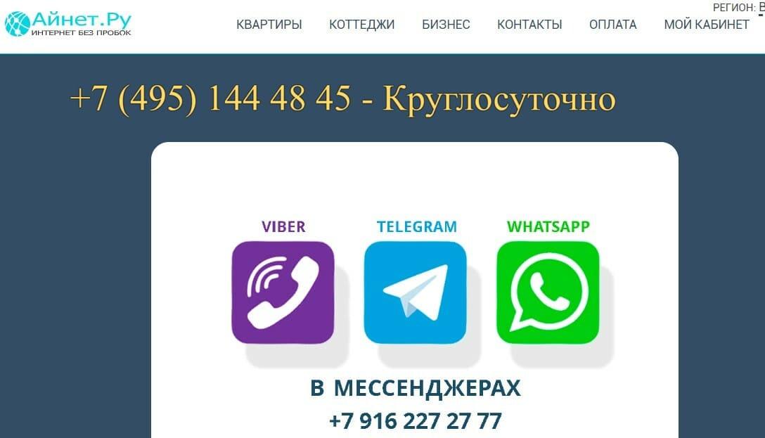 Айнет Ру сайт