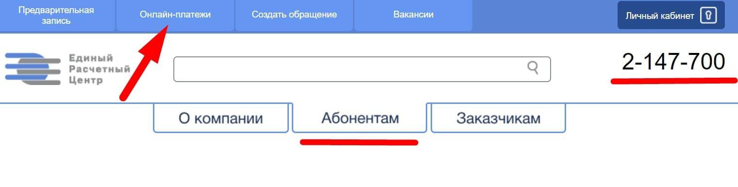 ЕРЦ96 РФ сайт