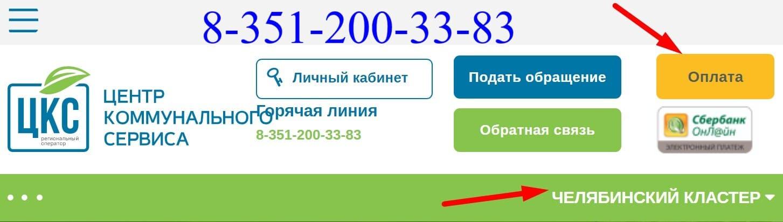 ЦКС Челябинск сайт
