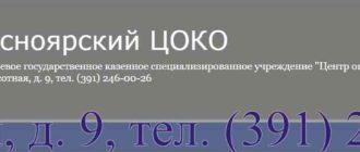 ЦОКО Красноярск сайт