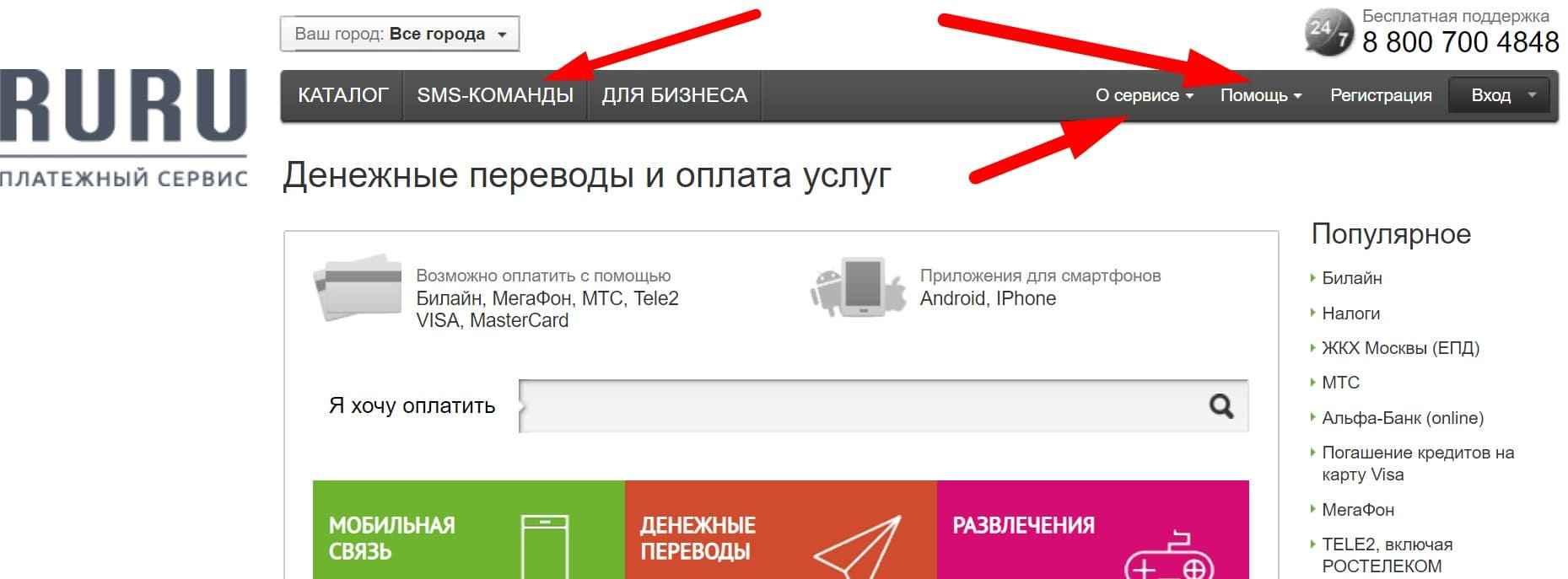 РуРу Ру платежная система