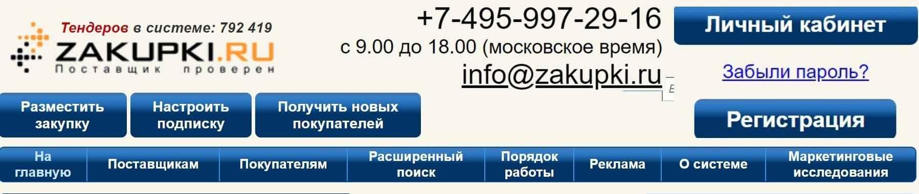 Zakupki Ru личный кабинет