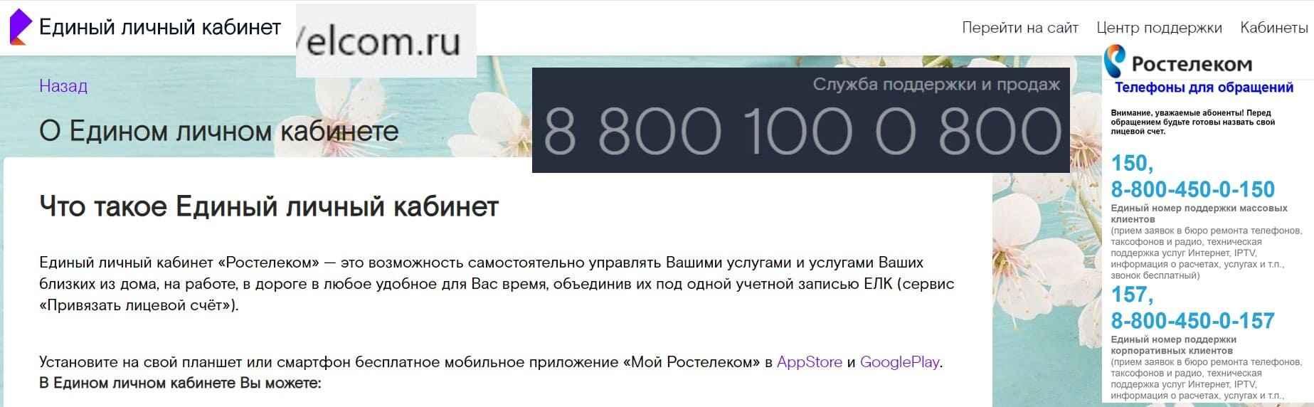Elcom.ru Ростелеком Владимир