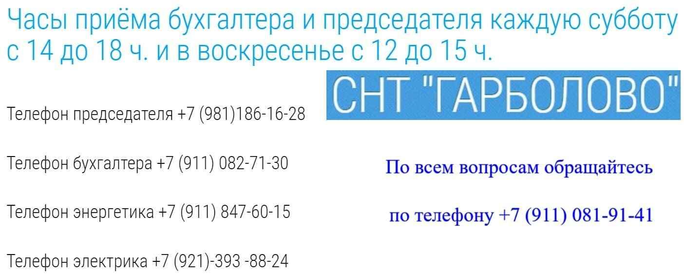 СНТ Гарболово сайт