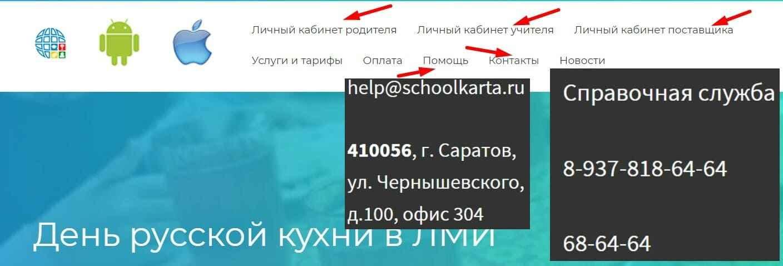 Саратовская школьная карта